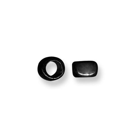 Enamel Ceramic Slider Tube Rondelle 9mm (Ø 8mm)