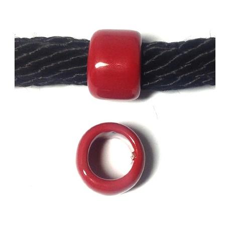 Κεραμική Χάντρα Ροδέλα με Σμάλτο 22x15mm (Ø15mm)