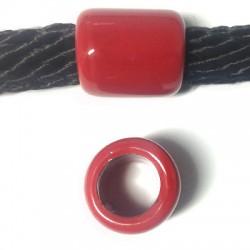 Κεραμική Χάντρα Ροδέλα με Σμάλτο 22x25mm (Ø15mm)