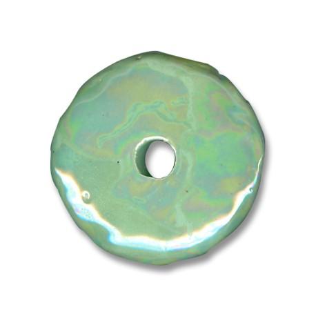 Κεραμική Χάντρα Δίσκος με Σμάλτο 45mm (Ø8mm)
