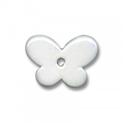 Enamel-Glazed One Color Ceramic Pendant Butterfly 30x12mm
