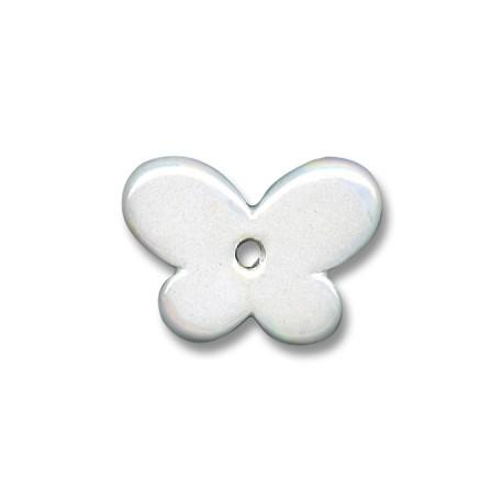 Passante Ciondolo in Ceramica Smaltata Farfalla 30x12mm