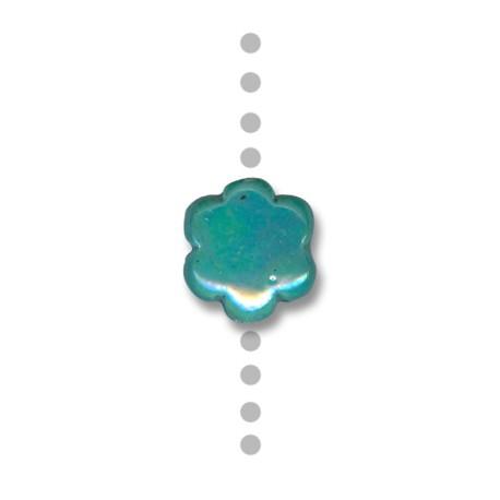 Fleur Céramique Émaillée 16mm (Ø 2.5mm)