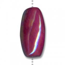Perle Ovale Céramique Émaillée 40x20mm (Ø 3.5mm)