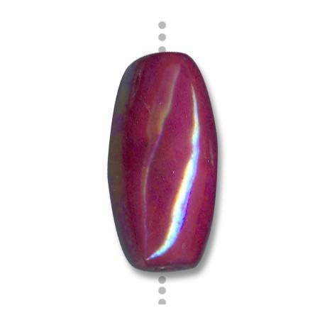 Enamel-Glazed One Color Ceramic Slider Oval 40x20mm (Ø 3.5mm)