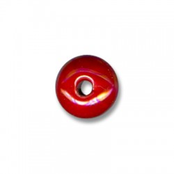 Perle Céramique Émaillée Aplatie 19mm (Ø 3.5mm)