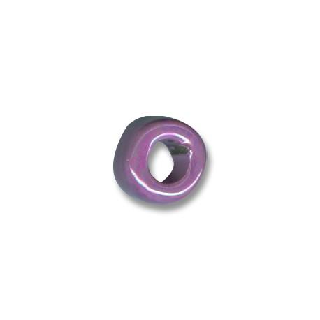 Κεραμική Χάντρα Ροδέλα με Σμάλτο 15x9mm (Ø8mm)