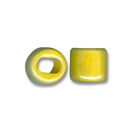 Enamel-Glazed One Color Ceramic Slider Round for Regaliz Leather 15mm (Ø 11x8mm)