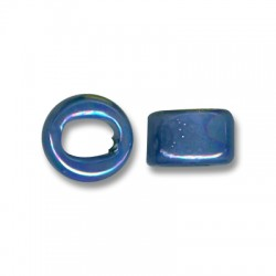 Enamel-Glazed One Color Ceramic Slider Round for Regaliz Leather 10mm (Ø 11x8mm)