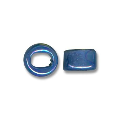 Enamel-Glazed One Color Ceramic Slider Round for Regaliz Leather 10mm (Ø 11x8mm)