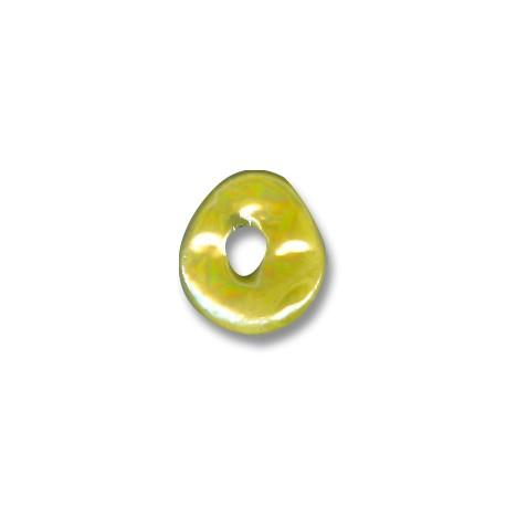 Κεραμική Χάντρα Δίσκος Ακανόνιστος με Σμάλτο 16mm (Ø4mm)