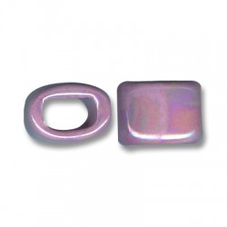 Enamel-Glazed One Color Ceramic Slider Oval for Regaliz Leather 15mm (Ø 11x8mm)