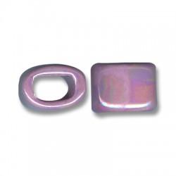 Passante Ovale per Cuoio Regaliz in Ceramica Smaltata 15mm (Ø 11x8mm)
