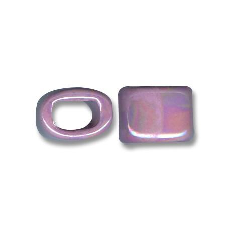 Enamel-Glazed One Color Ceramic Slider Oval for Regaliz Leather 15mm (Ø 11x8mm)