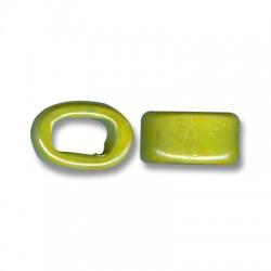Passante Ovale per Cuoio Regaliz in Ceramica Smaltata 10mm (Ø 11x8mm)