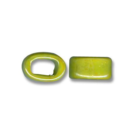 Enamel-Glazed One Color Ceramic Slider Oval for Regaliz Leather 10mm (Ø 11x8mm)