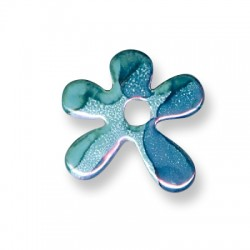 Enamel-Glazed One Color Ceramic Pendant Irregular Flower 30mm