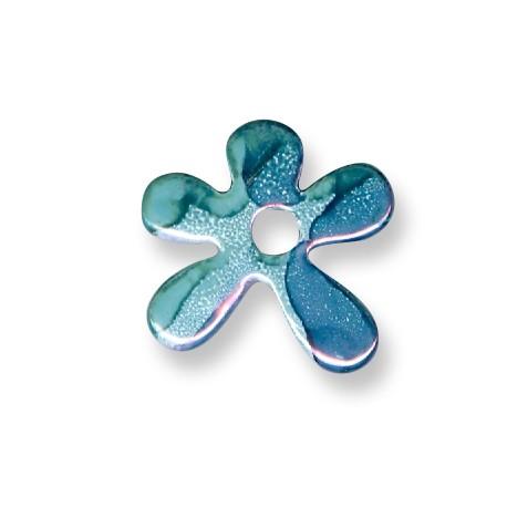 Enamel-Glazed One Color Ceramic Pendant Irregular Flower 30mm