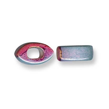 Enamel-Glazed One Color Ceramic Slider Eye for Regaliz Leather 10mm (Ø 11x8mm)