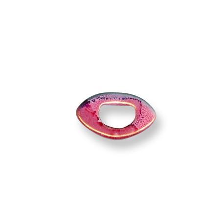 Κεραμική Χάντρα Μάτι για Regaliz με Σμάλτο 5mm (Ø11x8mm)
