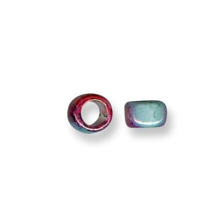 Enamel-Glazed One Color Ceramic Slider Tube Rondelle 9mm (Ø 8mm)