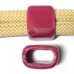 Κεραμική Χάντρα Πλακέ με Σμάλτο 17x26mm/20mm (Ø20x10mm)