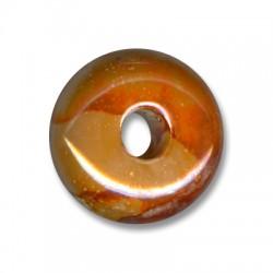 Passante Ciondolo Tondo Schiacciato in Ceramica Smaltata 33mm (Ø 8.5mm)