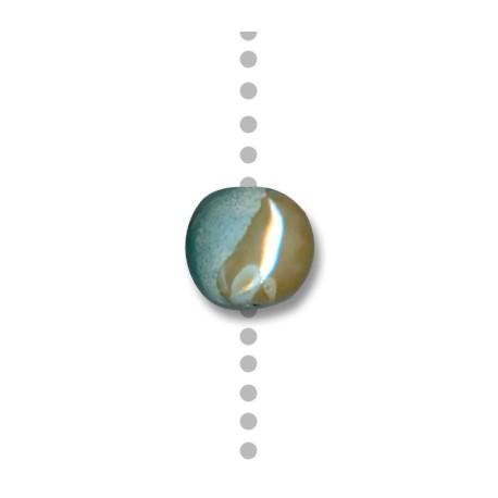 Enamel-Glazed Multi Color Ceramic Slider Oval 15mm (Ø 3mm)