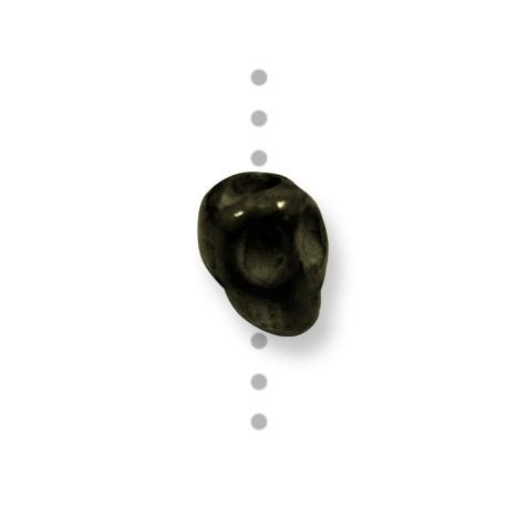 Κεραμική Χαντρα Νεκροκεφαλή Περαστή με Σμάλτο 12mm