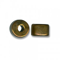 Enamel-Glazed Multi Color Ceramic Slider Rondelle 17mm (Ø 5mm)
