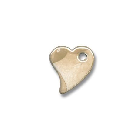 Κεραμικό Μοτίφ Καρδιά με Σμάλτο 22x19mm (Ø3mm)