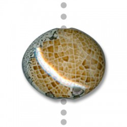 Κεραμική Χάντρα Στρογγυλή Περαστή με Σμάλτο 30mm (Ø5mm)