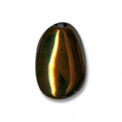 Passante Ovale a Goccia in Ceramica  Smaltata 30mm (Ø 5mm)