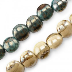 Perle Céramique Ronde Émaillée 20mm (Ø 4.5mm)