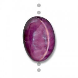 Perle Céramique Ovale Émaillée 24x17mm (Ø 4mm)