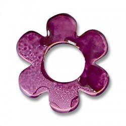 Κεραμική Χάντρα Λουλούδι με Σμάλτο 42mm (Ø16mm)