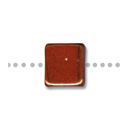 Κεραμική Χάντρα Τετράγωνη Περαστή με Σμάλτο 20mm (Ø8mm)