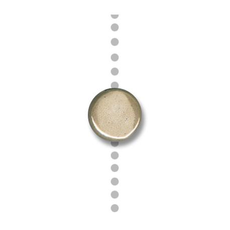Enamel-Glazed Multi Color Ceramic Slider Round Flat 13mm (Ø 2.5mm)