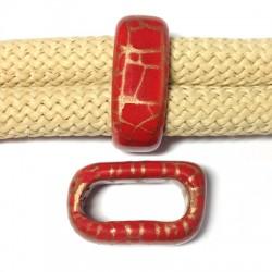 Tubo Passante in Ceramica Smaltata Craccata 17x25x10mm (Ø20x10mm)