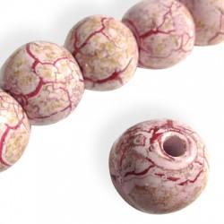 Perle Céramique Marbrée Émaillée  22mm (Ø 4.5mm)