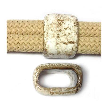 Tubo Passante in Ceramica Smaltata a Marmo 17x26x20mm (Ø20x10mm)