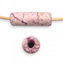 Tube Céramique Marbré Émaillé 14x40mm (Ø 5mm)
