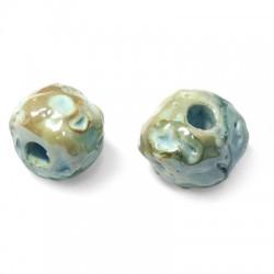 Perla Irregolare in Ceramica Smaltata 18mm (Ø 5mm)