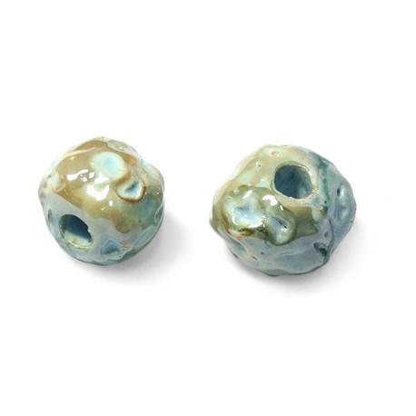 Enamel Ceramic Bead 18mm (Ø 5mm)