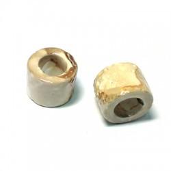 Κεραμική Χάντρα Ροδέλα με Σμάλτο 19x16mm (Ø11mm)