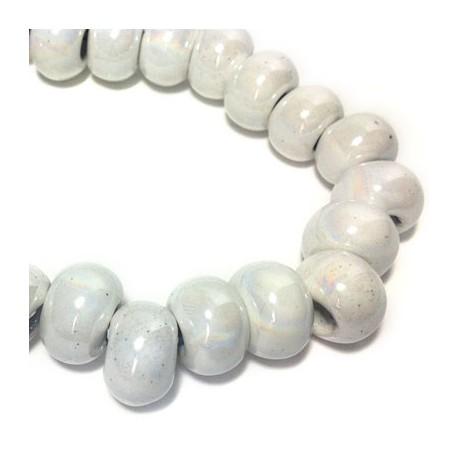 Perla in Ceramica Smaltata 14x10mm (Ø 6mm)