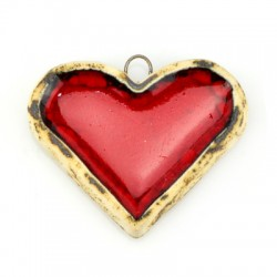 Enamel Ceramic Heart 49x40mm