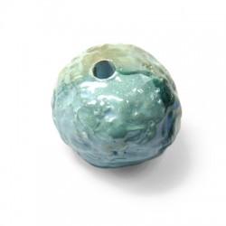 Perla Irregolare in Ceramica Smaltata 35mm (Ø 5mm)