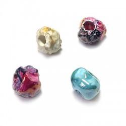 Perla Irregolare in Ceramica Smaltata 12mm (Ø 3,5mm)