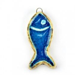 Enamel Ceramic Fish 27x56mm